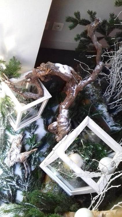 decoration florale vitrine noel marseille 2 422x750 - Décoration florale de vitrines