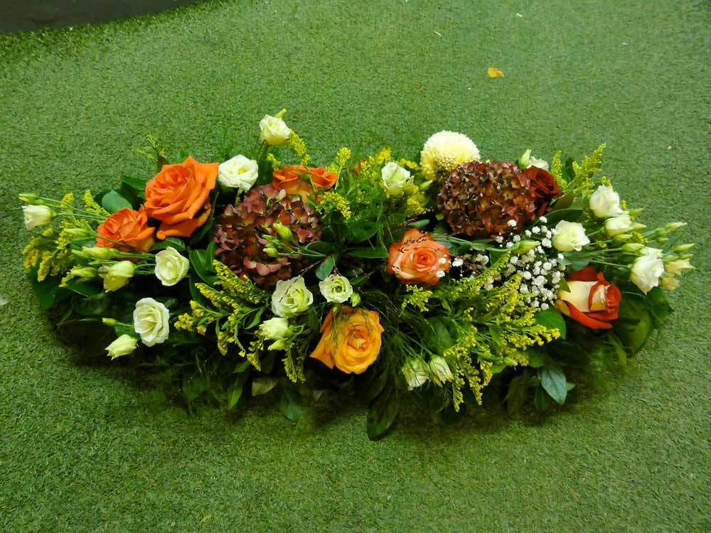 enterrement gerbe fleuriste
